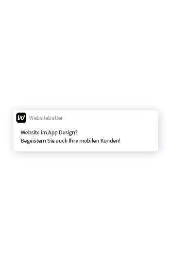 Website im App Design